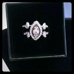 Real silver 925 two face ring